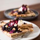 Pandekager med hjemmelavet nutella og is - med Miele TempControl