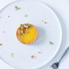 Passionsfrugttærte med mandelkrokant - nytårsdessert