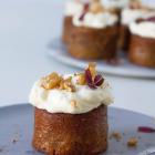 Gulerodsmuffins med cream cheese frosting