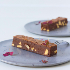 Double chocolate brownie med amber og flagesalt