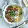 Kødfri spaghetti bolognese med grøntsager og quinoa