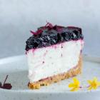 Cheesecake med blåbær og lime