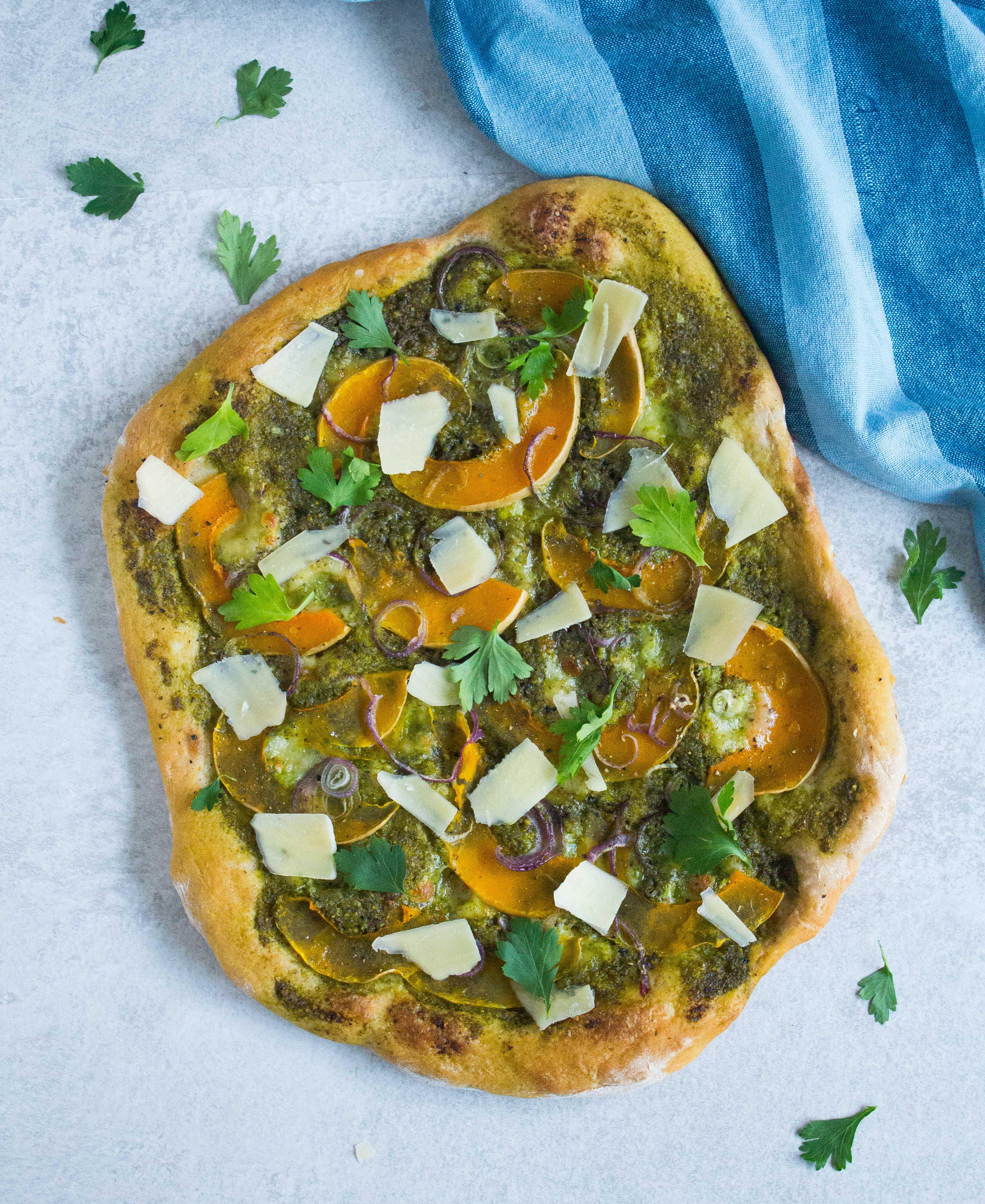 pizza med græskar