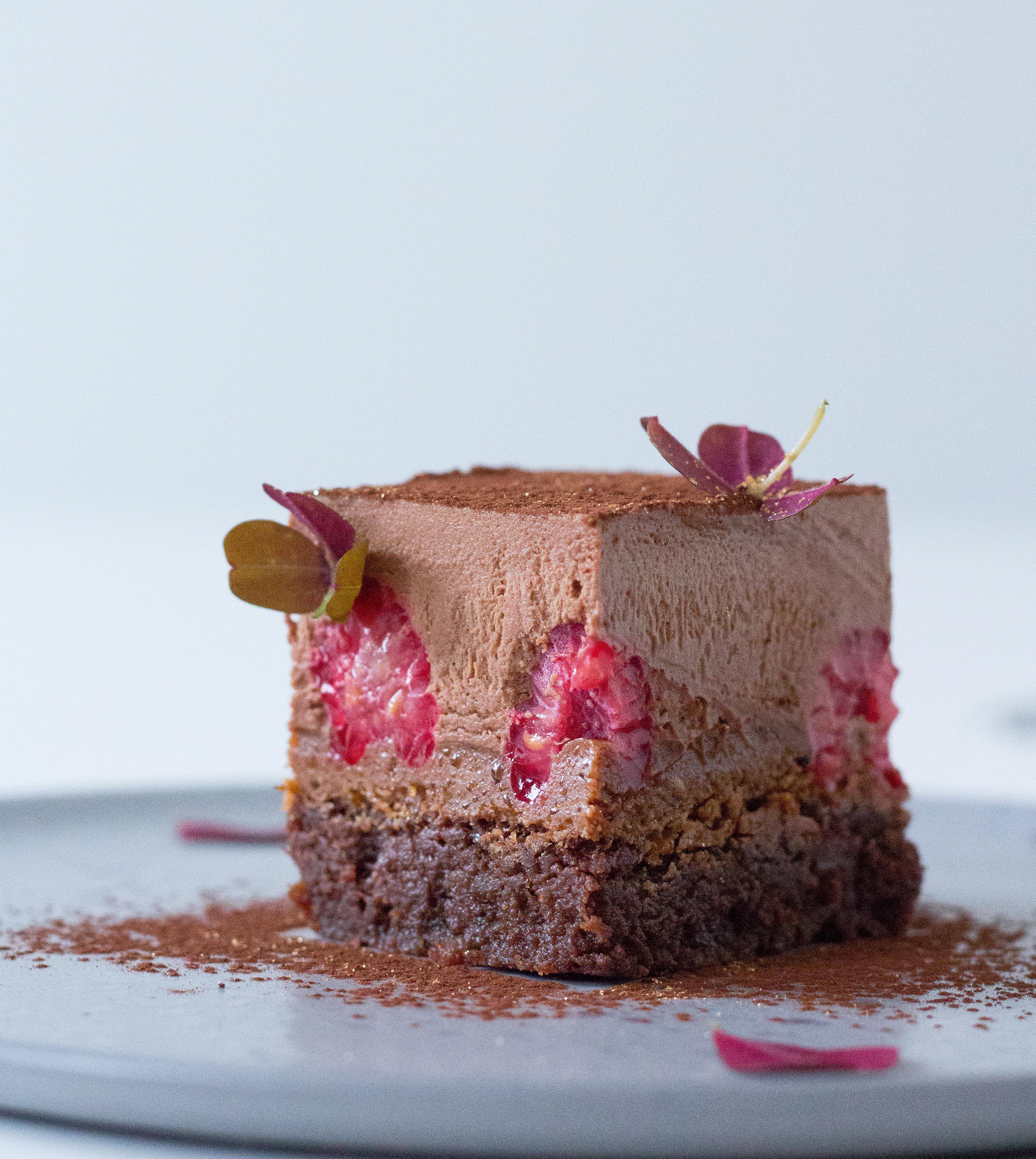 chokolademousse kage