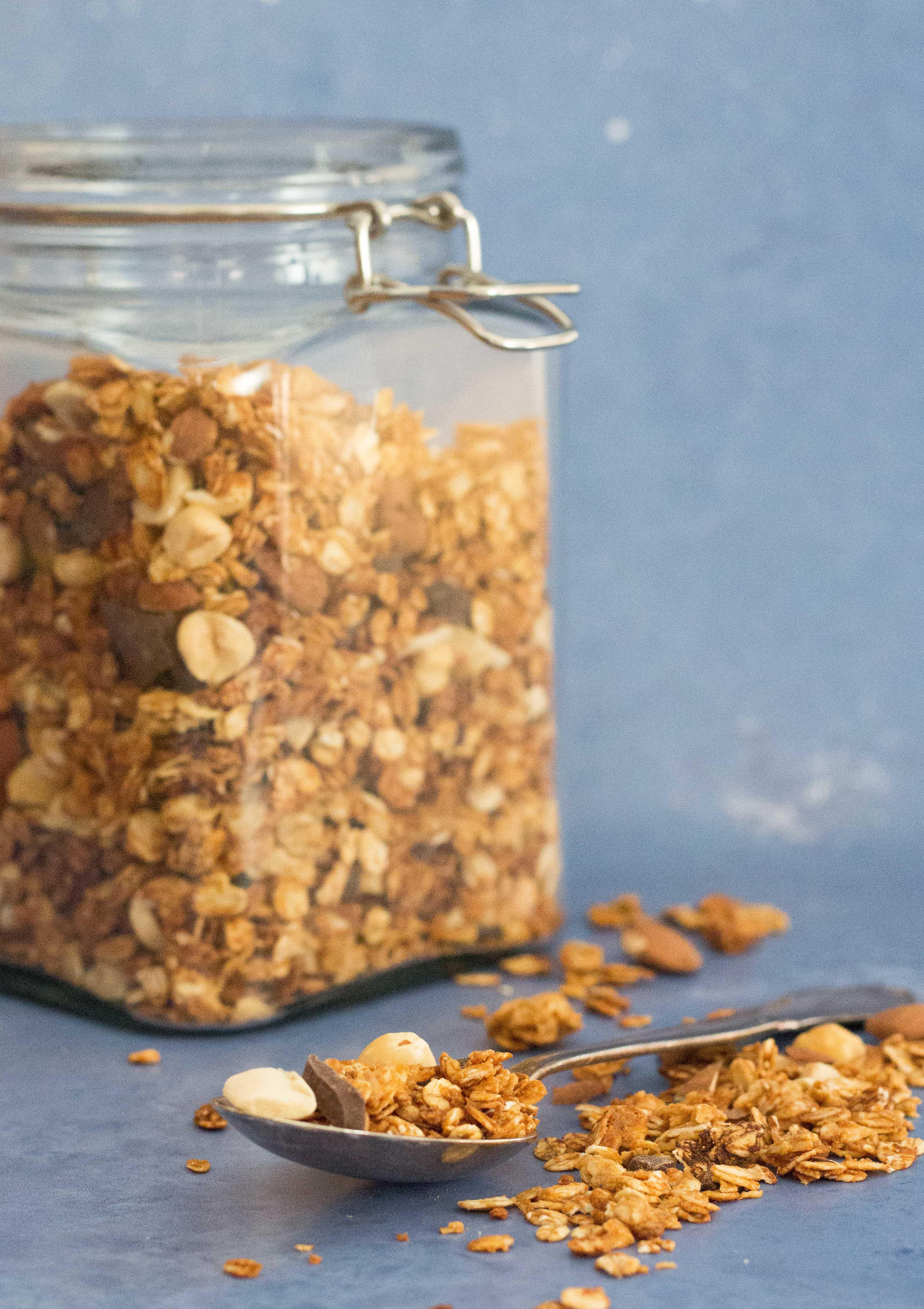 granola med peanutbutter