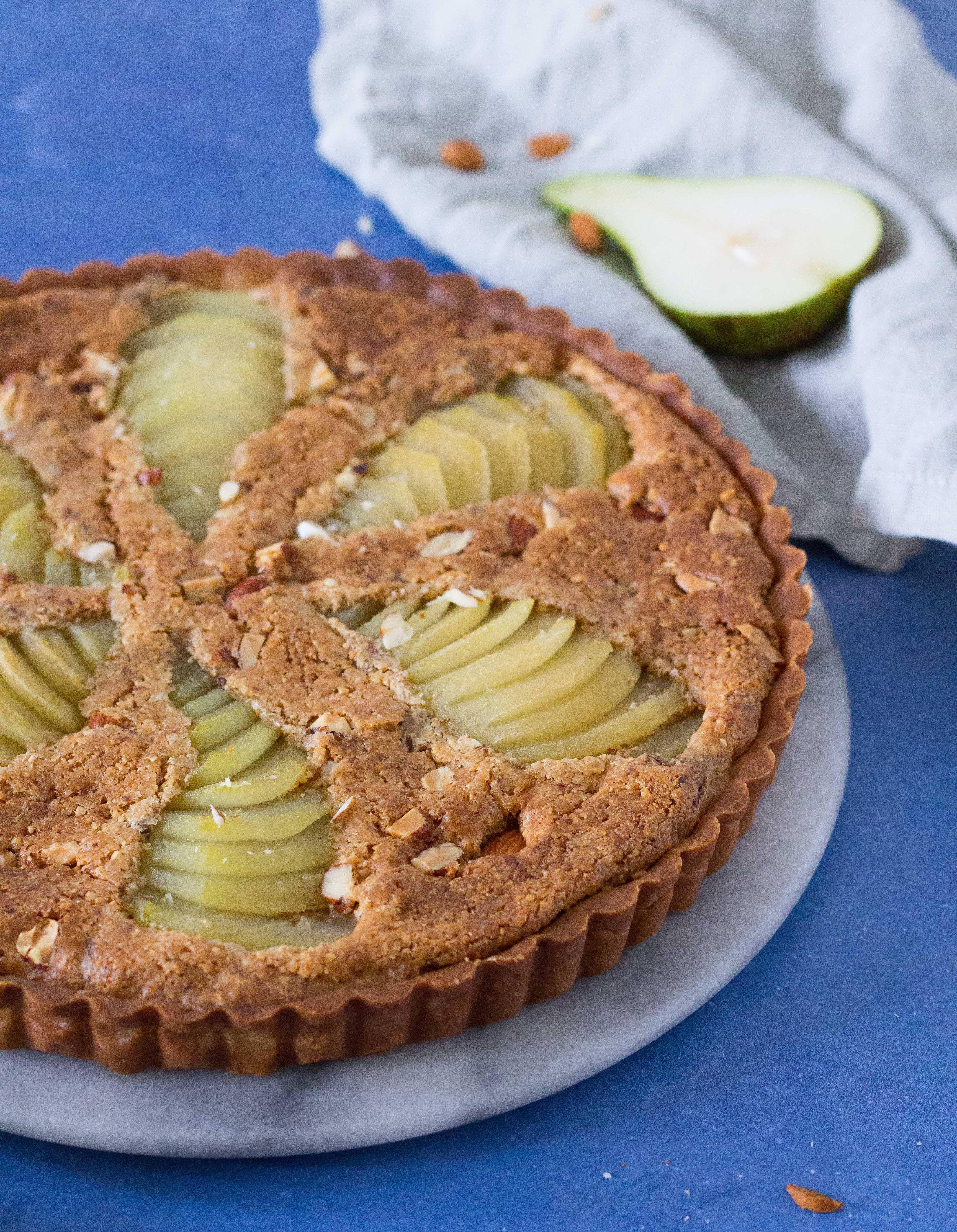 pæretærte med mandelmasse