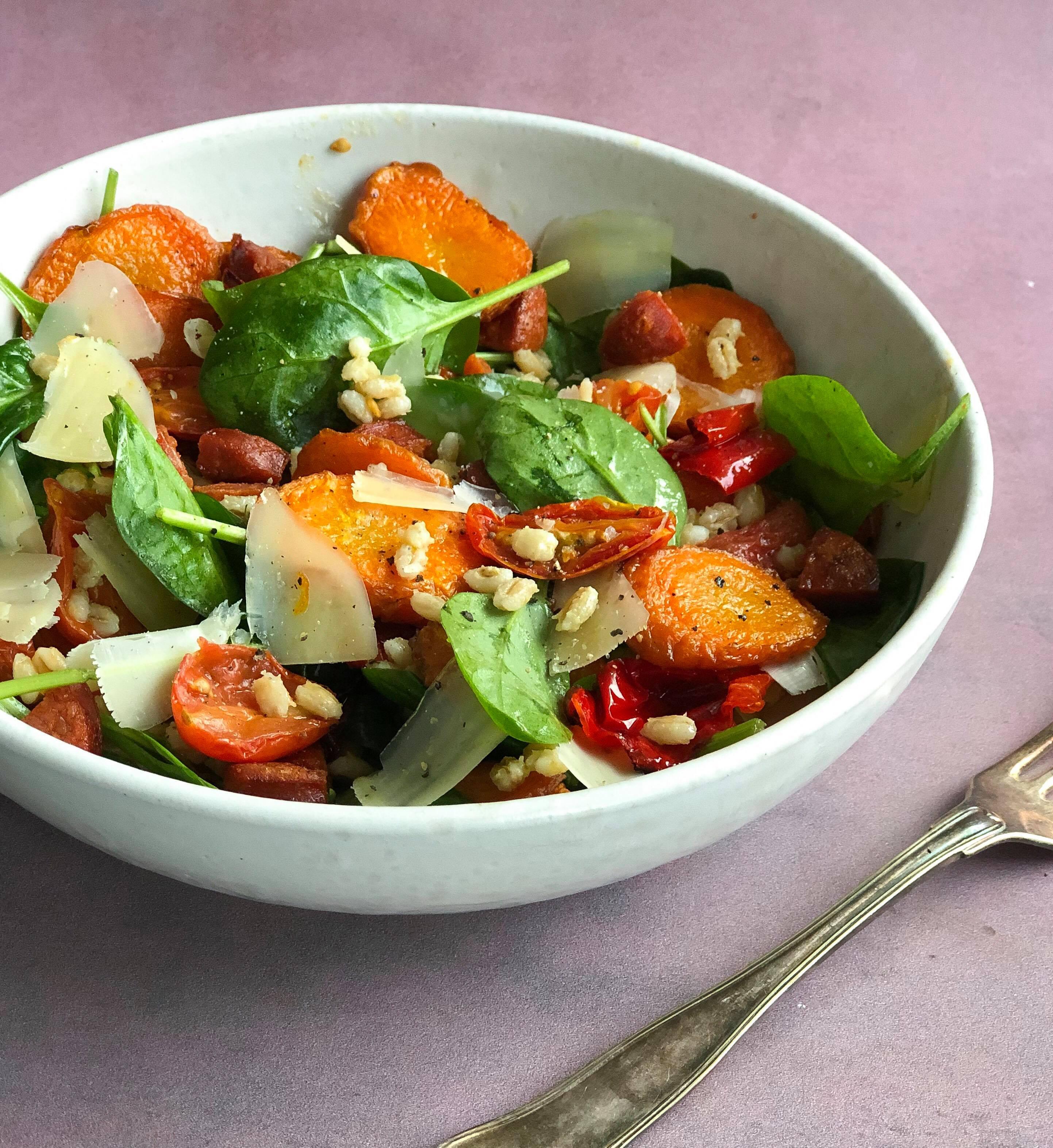 salat emd chorizo