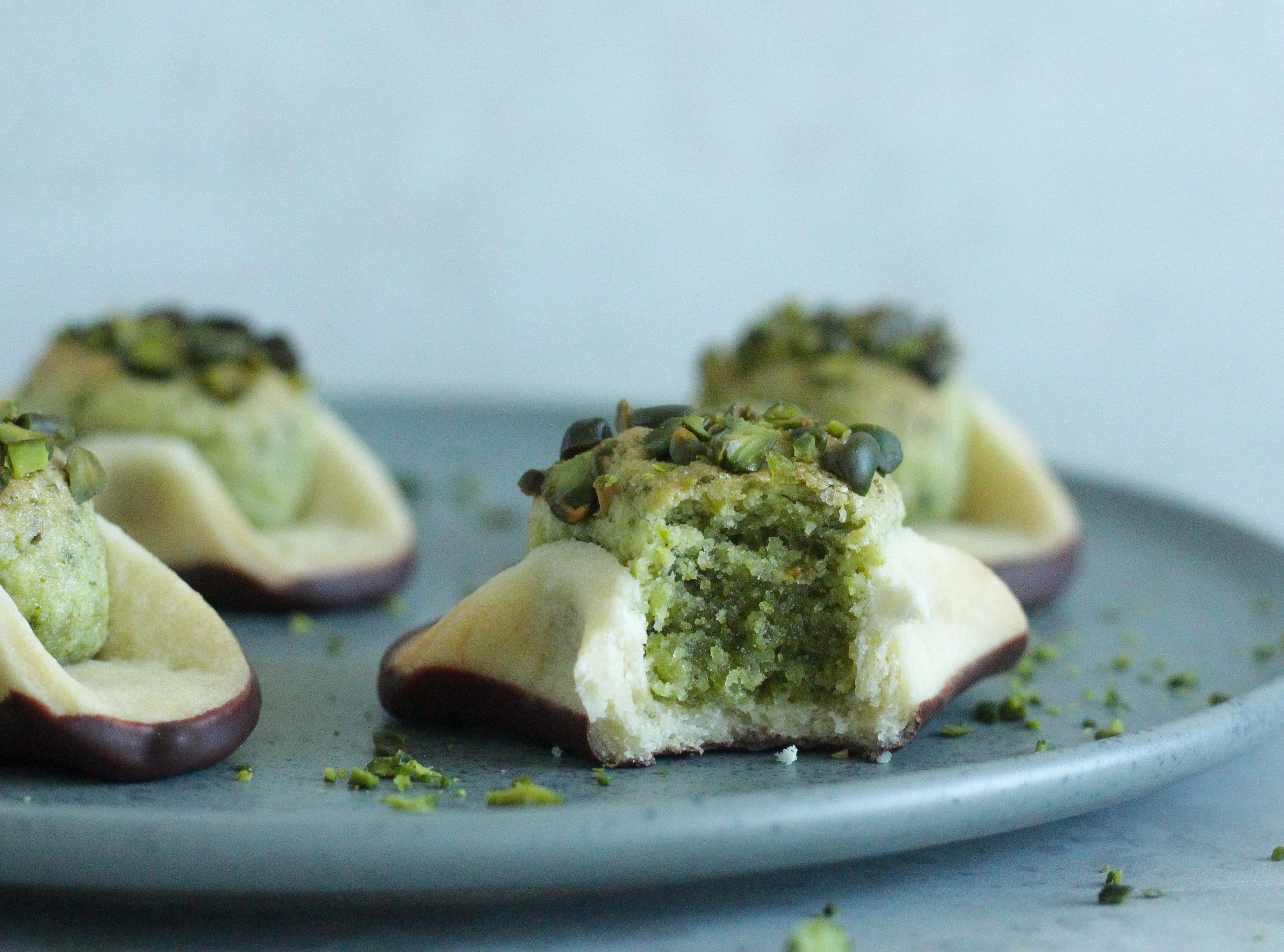 napoleonshatte med pistacie