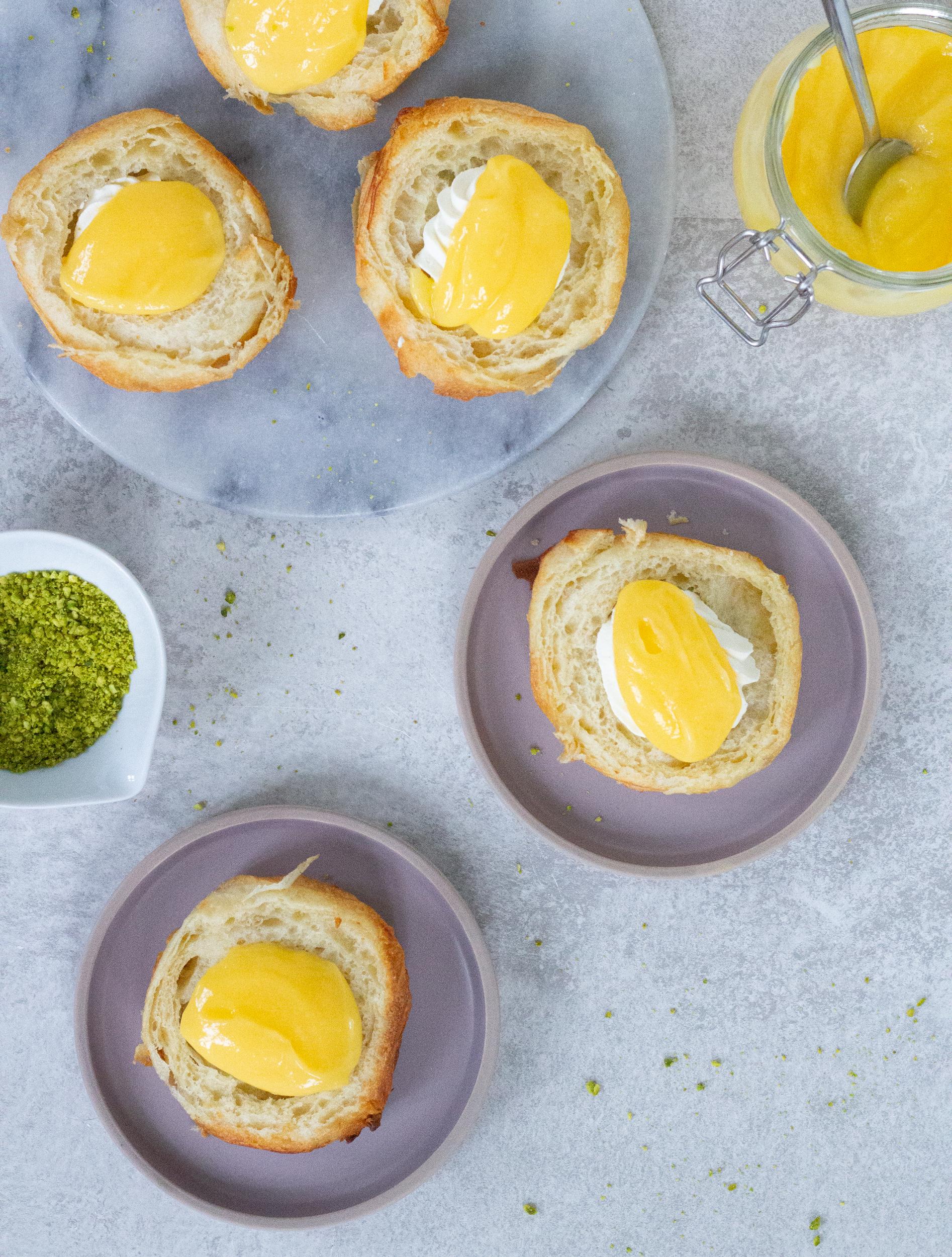 fastelavnsboller med lemoncurd